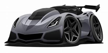 Sports American Vector Cartoon Illustration Modern Cars