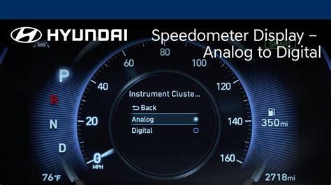 speedometer display analog  digital santa fe