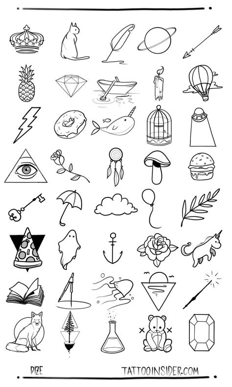80 Free Small Tattoo Designs | Small tattoos for guys