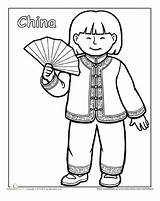 Coloring China Pages Multicultural Traditional Education Cultures Asian Chinese Cultural Around Heritage Clothing Worksheets Month Worksheet Diversity Sheets Different Colouring sketch template