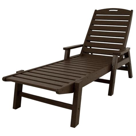 chaise longue pvc blanc polywood nautical mahogany stackable plastic outdoor patio