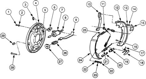 ford ranger rear brake diagram fixya