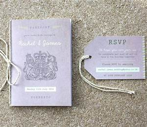 passport wedding invitation travel booklet rodo creative With wedding booklet invitations uk
