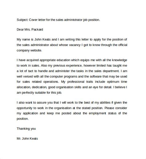 cover letter examples  sales   sample templates
