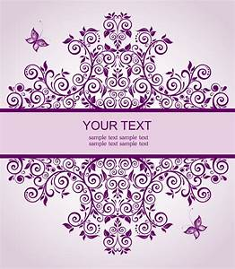 elegant floral decor wedding invitation cards vector free With elegant wedding invitations eps