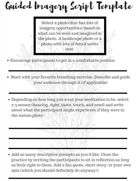 Versatile Free Printable Guided Imagery Scripts Mitchell