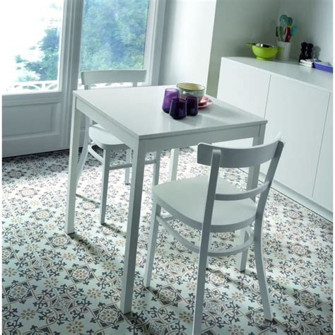 table de cuisine carree lara table carrée 67 cm blanc achat vente table de