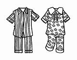 Pajamas Coloring Pages Colouring Template Colorear Coloringcrew Boys Templates Picolour sketch template