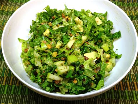 picture of green salad the sensitive epicure green on green chopped salad