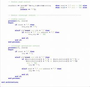 Incomplete Vhdl Code Of The Blinker Peripheral With Avalon