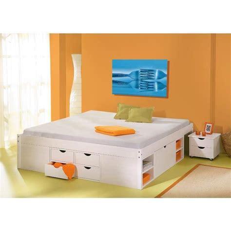 lit adulte 224 tiroirs 2 places till 140 achat vente structure de lit les soldes sur
