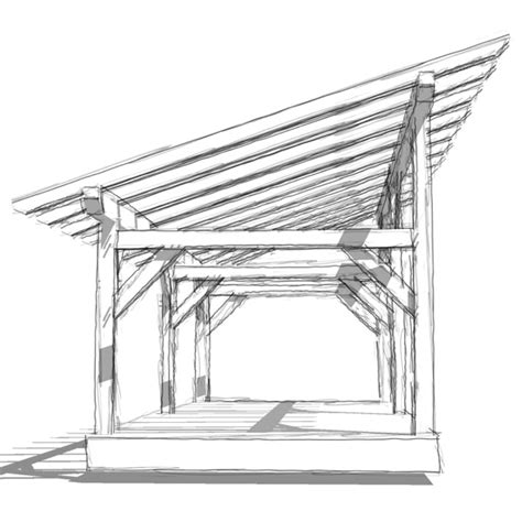 shed roof framing 14x30 timber frame shed timber frame hq