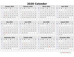 yearly calendar template calendar