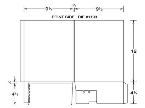 Custom Printed Pocket Folder Template  Volpe Packaging