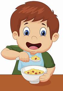 Royalty Free Kid Eating Cereal Clip Art, Vector Images ...