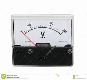 Analog voltmeter stock image. Image of industrial ...