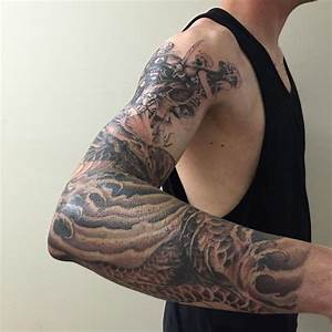Jörmungandr Norse Myth Sleeve Progress by Edward Lee ...