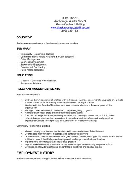 Sle Resume For Business Development Executive by Business Development Manager Resume Sles 28 Images Resume Business Development Manager Sales