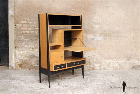 bureau secretaire bois bureau secrétaire vintage en bois pieds compas