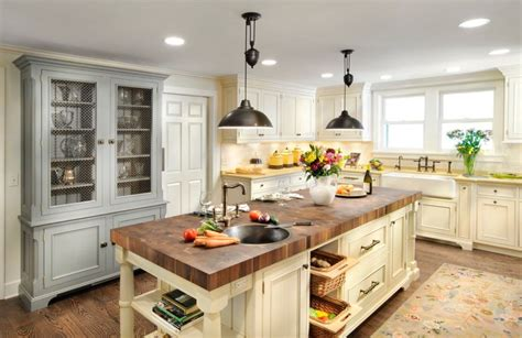 island counter kitchen 20 exles of stylish butcher block countertops 1938