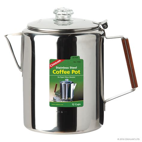 stainless steel coffee pot 12 cup cook grill coghlan s