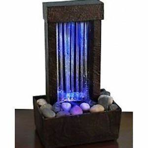 Indoor Tabletop Water Fountain Color Changing Glass Home
