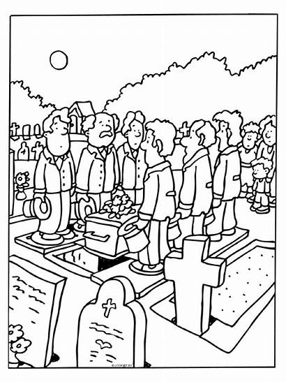 Funeral Coloring Pages Deceased