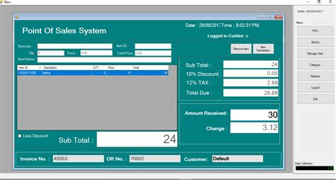 point  sale  inventory system