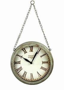 Wanduhr Mit Bildern : wanduhr colmar metall mit kette rost optik nostalgie shabby landhaus uhr antik ~ Watch28wear.com Haus und Dekorationen