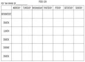 Free Printable Weekly Food Log