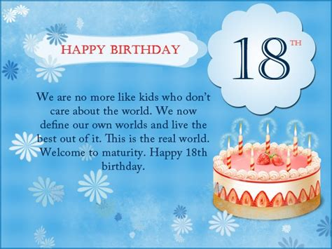 Happy 18th Birthday Messages  18th Birthday Wishes