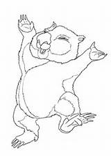 Wombat Coloring Pages Dancing Drawing Stew Printable Cartoon Characters Supercoloring Template Dot Anime Getdrawings Sketch Categories sketch template