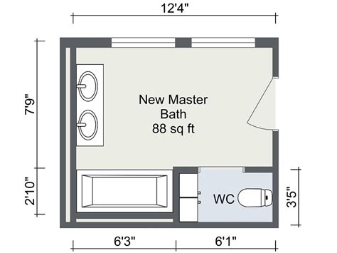 Master Bathroom Design Plans by Bathroom Remodel Roomsketcher