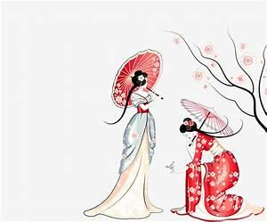 Maison Japonaise Dessin : sakura japonaise de la beaut de dessin fleur de cerisier japonais le dessin anim japonais de ~ Melissatoandfro.com Idées de Décoration