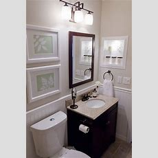 Black, Cream & White Small Bathroom  Decorating Samples I