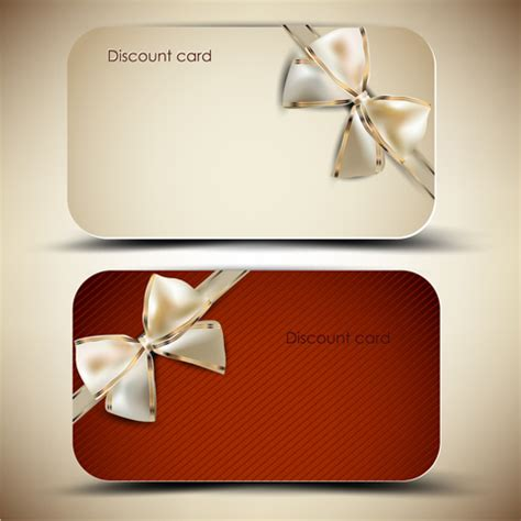 creative  gift discount cards design vector  vector