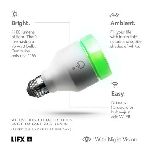 lifx lifx infrared 75w equivalent a19 multi color