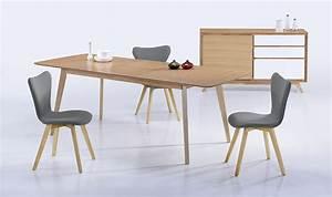Table Extensible Bois Massif : table manger extensible en bois massif 180 224 cm ~ Teatrodelosmanantiales.com Idées de Décoration