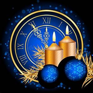 Blue, And, Gold, Christmas, Background, Stock, Vector