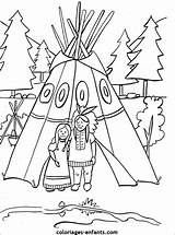 Native American Coloring Pages Teepee Table Indians Thanksgiving Pottery Crafts Coloriage Indiens Indian Coloriages Preschool Indien Les Colouring Maybe Kid sketch template