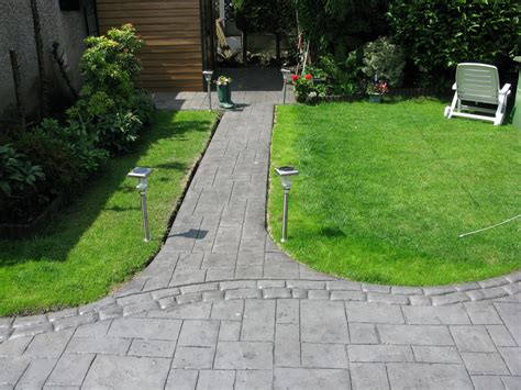 garden paths and patios lawn garden outside house struck in patio progress phase 2 awesome cobblestone garden path