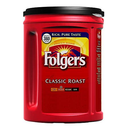 Vacket packs have up to a 12 month shelf life. Folgers Classic Roast Coffee 48oz. Brown - Office Depot