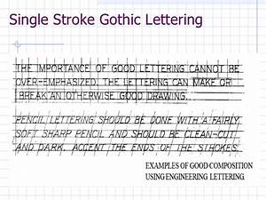 engineering drawing engineering lettering lesson 3 With architectural lettering template