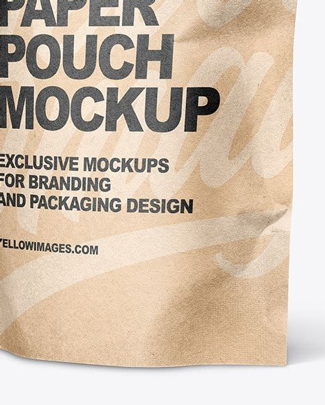The psd template is fully editable as you can replace your label design using the. Kraft Paper Stand Up Pouch Mockup in Pouch Mockups on ...