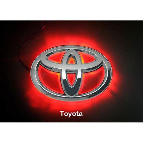 cool toyota logos led car logo red light for toyota rav4 11 reiz auto badge
