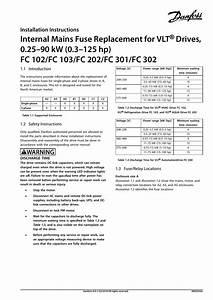 Danfoss Internal Mains Fuse Replacement Installation Guide