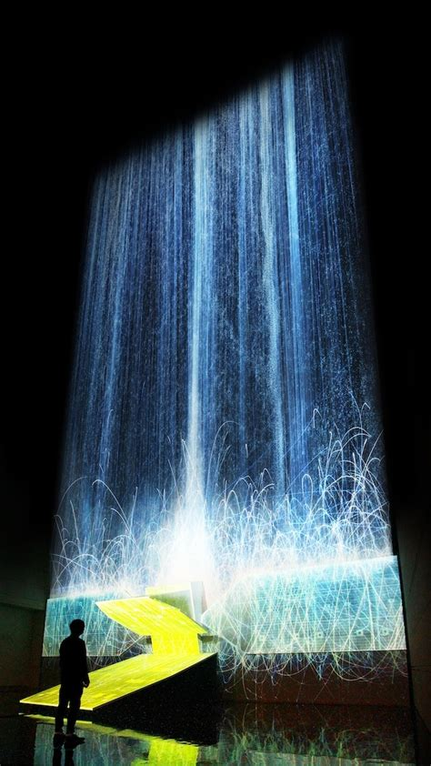 waterfall effect illusion digital waterfall projected on a satellite gives the illusion of weightlessness the creators