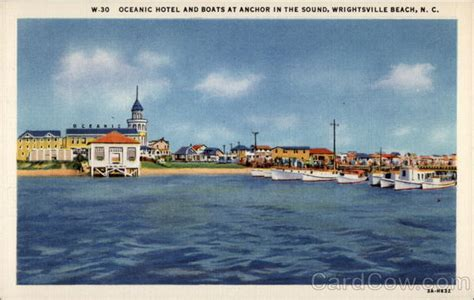 Boat Rs Near Wilmington Nc by Oceanic Hotel And Boats At Anchor In The Sound