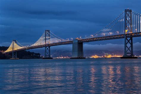 bay bridge lights bay lights on the san francisco bay bridge