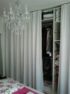 Offener Schrank Vorhang : kleiderschrank pax mit vorhang anstatt t ren garderobenideen pinterest kleiderschrank ~ Markanthonyermac.com Haus und Dekorationen